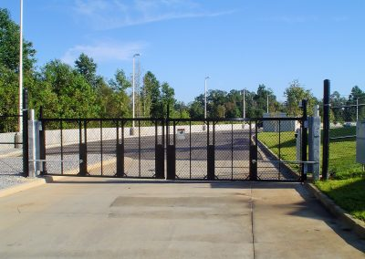 TyMetal Black Aluminum Swing Gates with HySecurity Swing Risers