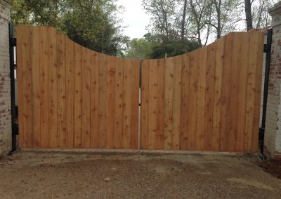Custom Iron Gate with Cedar Wood Face & Viking G5