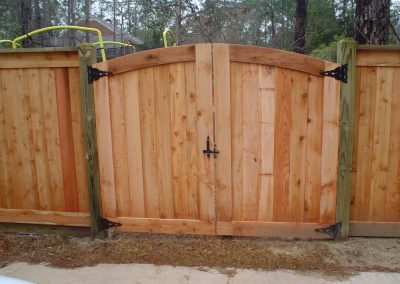 Arched Custom Cedar Gate